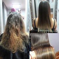 Бразильское выпрямление волос в Киеве в салоне.