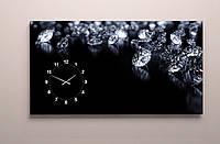 Годинник настінний для спальні діаманти