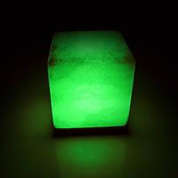 Соляная лампа SALTKEY CUBE Green (Куб) GIGANT 10-11 кг