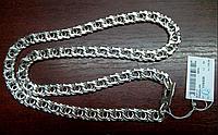 Серебряная цепь 925 пробы бисмарк Арабка,длинна 70 см, вес 119.3 г
