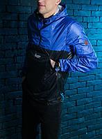Анорак куртка мужская весенняя Pobedov Lightness Black - Blue
