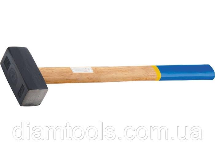 Кувалда, 6000 г, кована головка, дерев'яна ручка// СИБРТЕХ