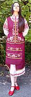 Вышитый украинский празднечный костюм с корсеткой