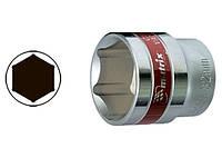 """Головка торцева, 22 мм, 6-гранна, CrV,під квадрат 1/2"""",  хромована// MTX MASTER"""