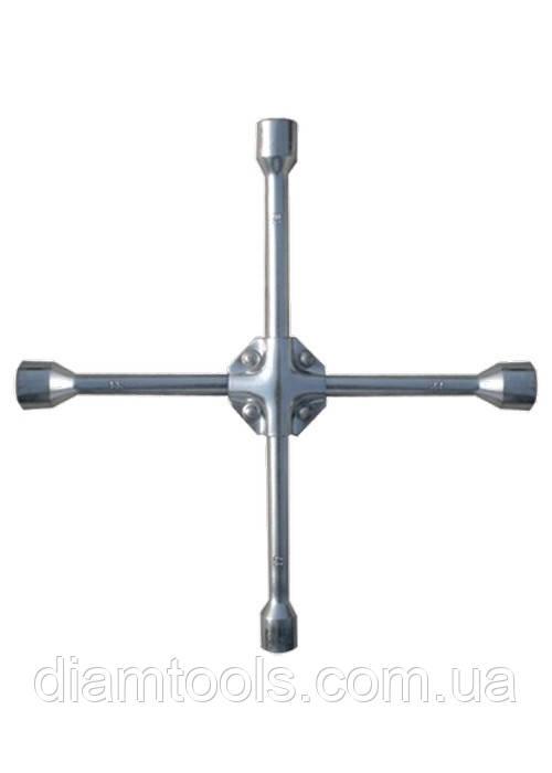 """Ключ-хрест балонний, 17 х 19 х 21 мм, квадрат 1 / 2 """", посилений, товщ. 16 мм// MTX PROFESSIONAL"""