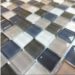 МозаикаMIX C04 стекло прозрачное 2,5*2,5