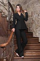 Жакет Ева черный женский жакет пиджак размеры большие