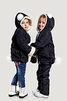 Детская зимняя куртка +варежки,очень теплая