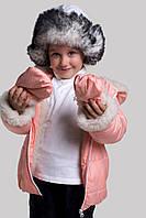 Детская зимняя куртка +варежки,водотталкивающая