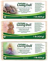 Набор запекаемой полимерной глина Living Doll (ливингдолл). Три цвета, по 454г.