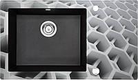 Кухонная мойка Deante CAPELLA стекло (соты)/гранит (графитовый металлик) край граненый, фото 1