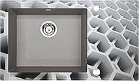 Кухонна мийка Deante CAPELLA скло (соти)/граніт (сірий металік) край гранований, фото 1