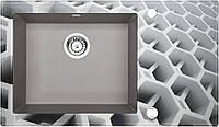 Кухонная мойка Deante CAPELLA стекло (соты)/гранит (серый металлик) край круглый, фото 1