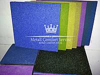 Резиновая плитка 500х500х20 синий