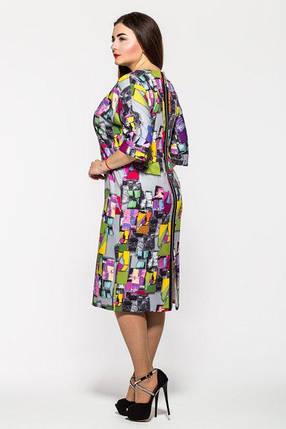 Женское женственное классическое платье Эмма пепельная размер 52,55,56 / больших размеров , фото 2