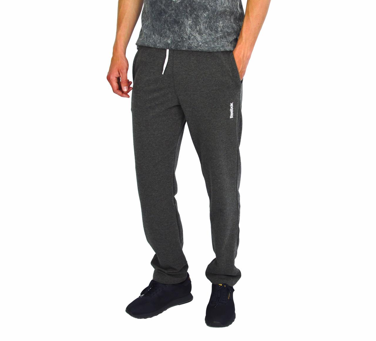 Темно-Серые мужские спортивные трикотажные штаны REEBOK