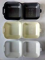 Ланч-бокс HB-6 (для сендвича) из вспененного полистирола с крышкой 150x150x70 мм.