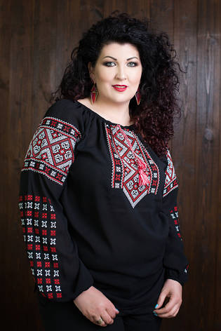 Молодежная женская вышиванка больших размеров, фото 2