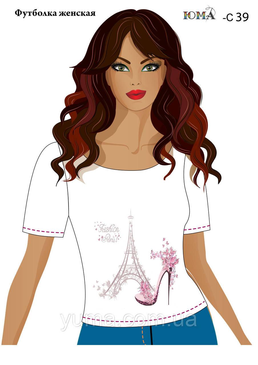 """Женская футболка с рисунком """"Модный Париж"""""""