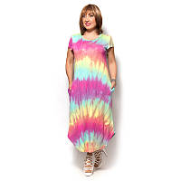 Женское платье большого размера из вискозы