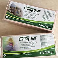 Набор запекаемой полимерной глина Living Doll (ливингдолл). Два цвета, по 454г.
