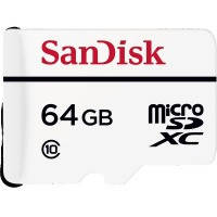 Карта памяти sandisk 64gb microsdxc c10 w20mb/s high endurance video monitoring