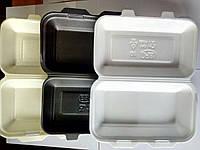 Ланч-бокс HB-10 (средний) из вспененного полистирола с крышкой 240x155x70 мм.