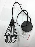 Светильник подвесной LOFT L589604-1 BK с выключателем