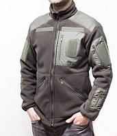 """Куртка флисовая """"Медведь"""" с 5 карманами и подкладкой на меху, 450-540 г/м², Олива, 46-60"""