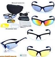 Daisy C3 - защитные вело-очки (4 пары линз в комплекте) для охоты, рыбалки, спорта