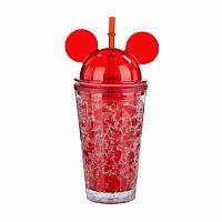 Бутылка Микки Маус Ice Cup красная