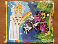 Тетрадь цветная,12 листов, клетка, фото 1