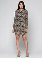 66271 Туника-платье коричневая: imprezz.com.ua