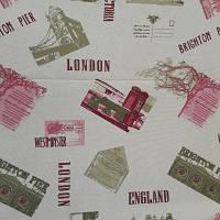 Мебельная скатерная портьерная ткань с тефлоновым покрытием DUCK  Города 1, фото 1
