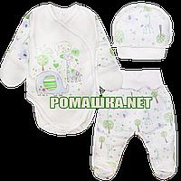 Комплект (костюмчик) на выписку р. 56 для новорожденного демисезонный ткань ИНТЕРЛОК 100% хлопок 3745 Голубой