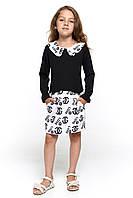 Красивое платье для девочки 048 черное