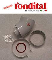 Коаксиальное колено ø 100/60 мм, 45 град. (для настенных TFS и Bali TFS) Fondital, фото 1