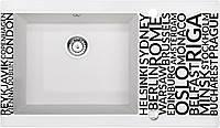 Кухонная мойка Deante CAPELLA стекло (города)/гранит (алебастр) край граненый, фото 1