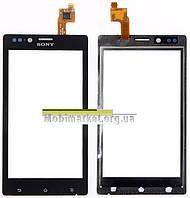 Сенсорний екран для мобільного телефону Sony ST26i Xperia J, чорний