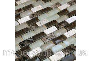 Мозаика мрамор стекло DAF100  3*1.5