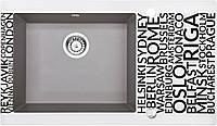 Кухонная мойка Deante CAPELLA стекло (города)/гранит (серый металлик) край граненый, фото 1