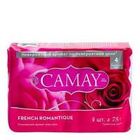 Туалетное мыло Camay French Romantique алая роза 4x75г. (Египет)