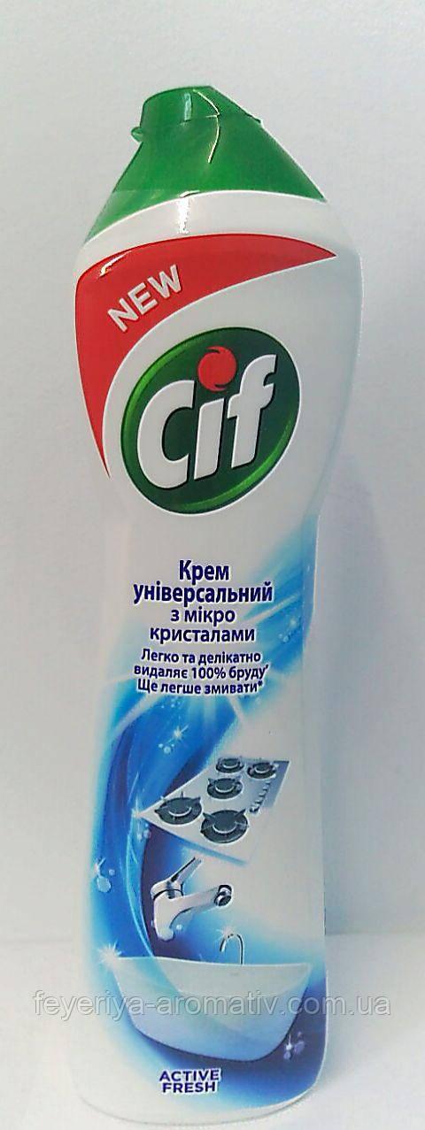 Универсальный чистящий крем с микрокристаллами Cif, 500мл (Венгрия)