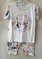 """Пижама детская для девочек """"Кошка""""4-6 лет .Оптом.Турция"""