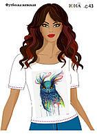 """Женская футболка c рисунком """"Сова в красках''"""