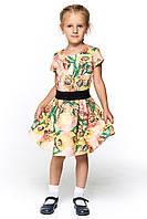 Красивое детское платье из стеганного трикотажа 056