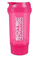 Шейкер Scitec Nutrition Treveller +1 контейнер 500 мл pink/розовый