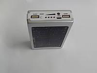 Power bank Techfuerza 30 000 mAh+ солнечная зарядка (повер банк, внешний аккумулятор) цвет серебро