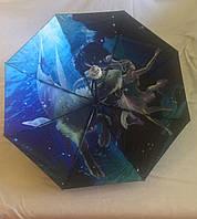 Зонт Maxy, с рисунком под куполом, полиэстер