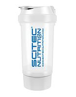 Шейкер Scitec Nutrition Treveller +1 контейнер 500 мл white/белый